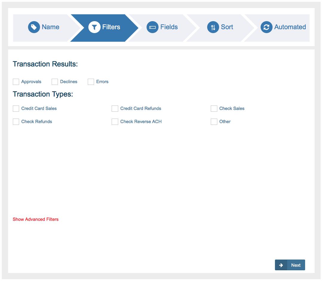 Custom Reports - Newtek Gateway Help
