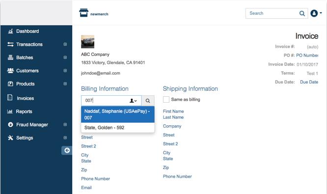 Invoices - Newtek Gateway Help