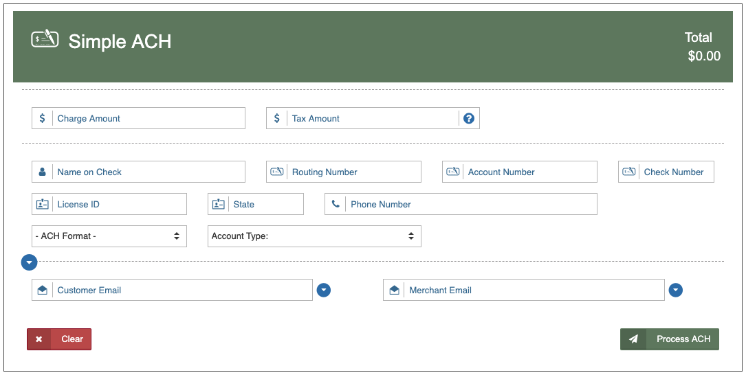 Simple ACH - Newtek Gateway Help